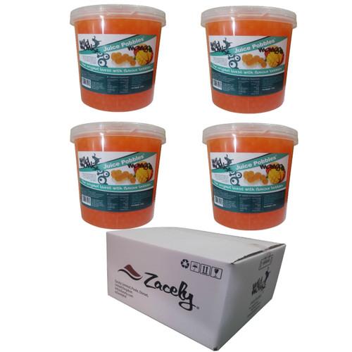 3.2kg Wild Monk MANGO Juice Pobbles for Bubble Tea (Case of 4 Tubs)