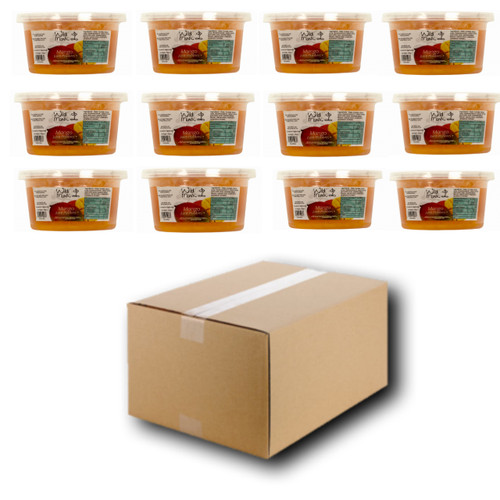 450g Wild Monk Mango Juice Pobbles for Bubble Tea (Case of 12 Tubs)