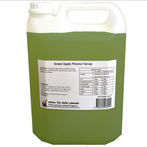 5kg (4L) Syrup for Bubble Tea - GREEN APPLE
