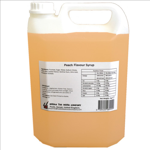 5kg (4L) Syrup for Bubble Tea - PEACH