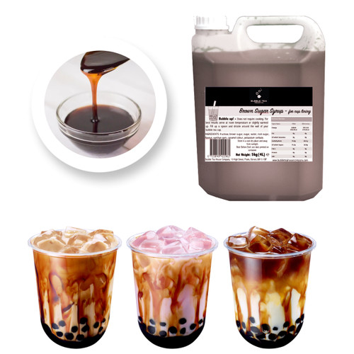 5kg (4L) Syrup for Bubble Tea - BROWN SUGAR - for cup lining