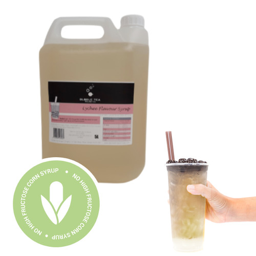 5L Syrup for Bubble Tea - LYCHEE - No high fructose corn syrup