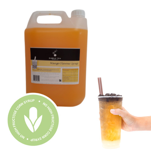 5L Syrup for Bubble Tea - MANGO - No high fructose corn syrup