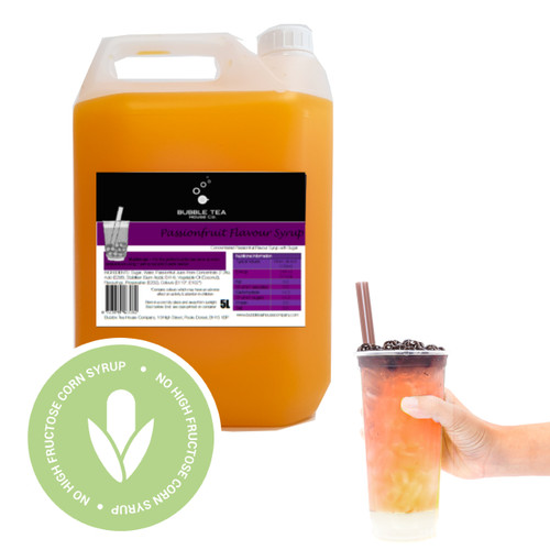 5L Syrup for Bubble Tea - PASSION FRUIT - No high fructose corn syrup