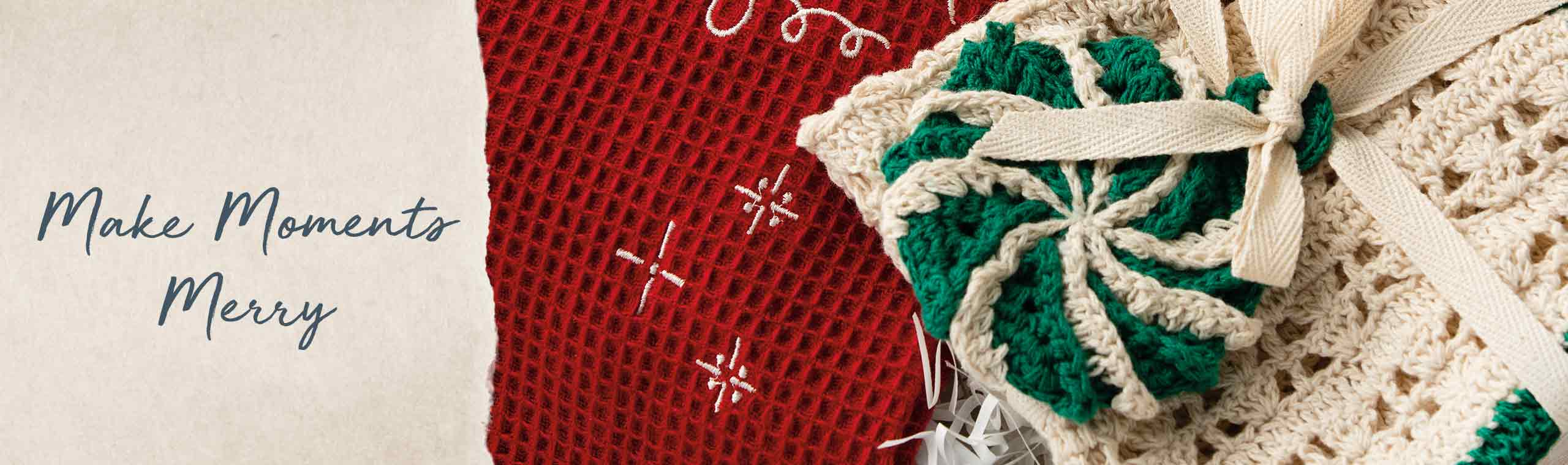 Making moments messy. a picture of a red, white and green towel
