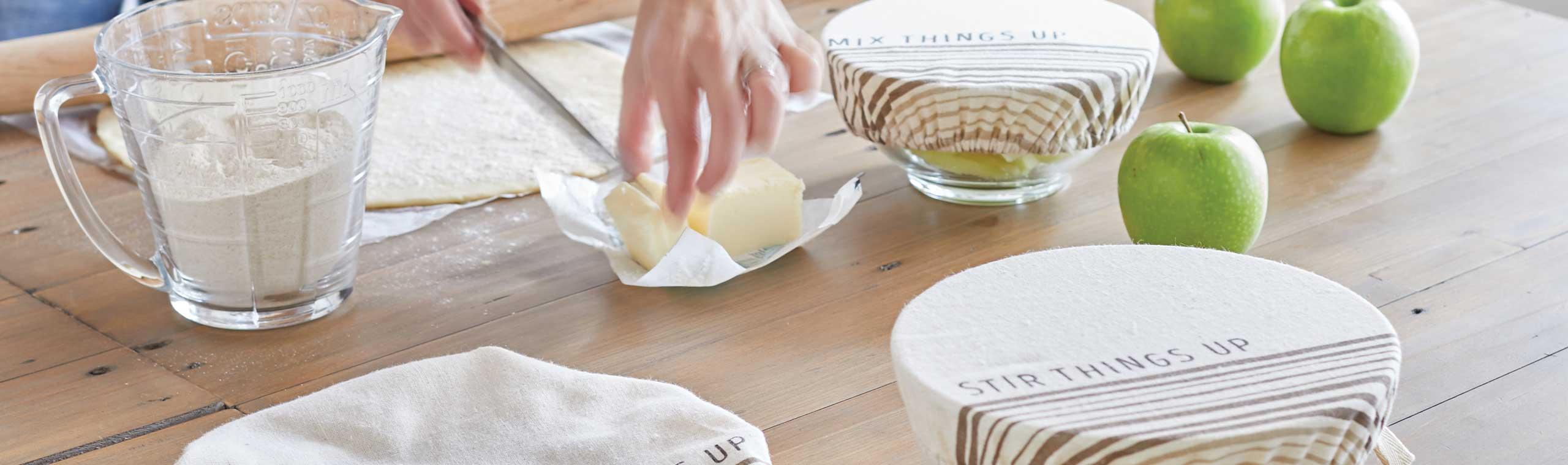a women preparing baked goods
