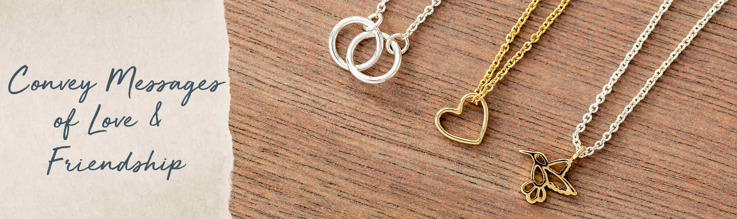 Convey messages of love and Friendship! a gold and silver necklaces
