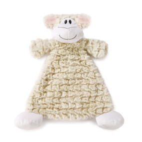 Tan lamb spread open blanket animal