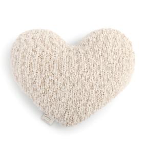 cream plush heart shaped pillow