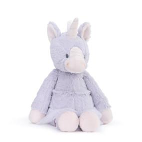 purple unicorn stuffed animal wearing tutu