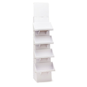 White stand with several shelves