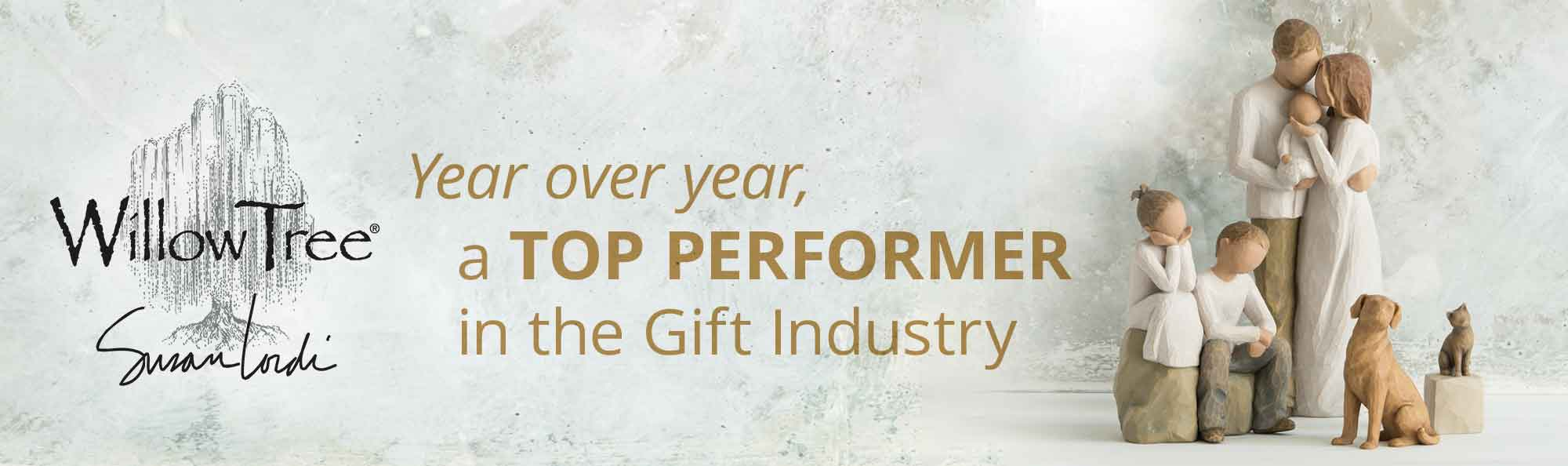 Willow Tree by Susan Lordi. Year over year a top performer in the gift industry