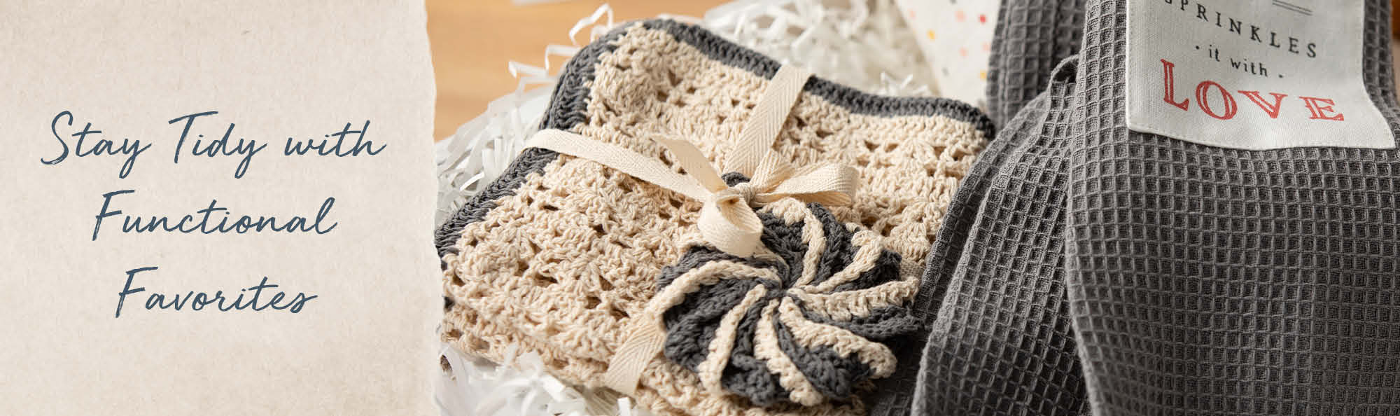 Stay Tidy with Functional Favorites. Crocheted dish cloth and scrubbie.