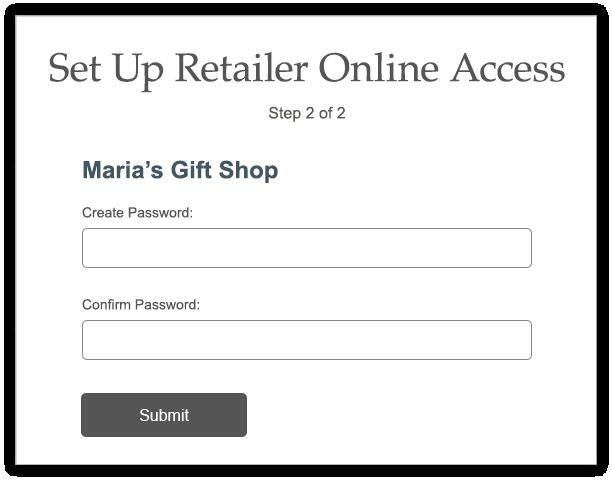 Setup Up Online Access Password screen