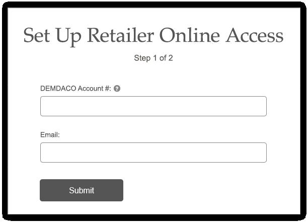 Set Up Online Access screen