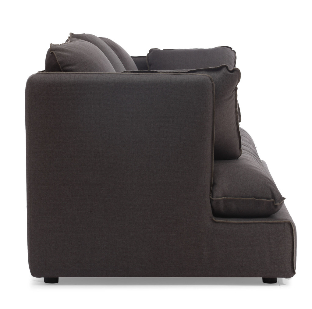 98093 Pacific Heights Sofa Charcoal Gray 816226021794 Seating Modern Charcoal Gray Sofa by  Zuo Modern Kassa Mall Houston, Texas Best Design Furniture Store Serving Houston, The Woodlands, Katy, Sugar Land, Humble, Spring Branch and Conroe