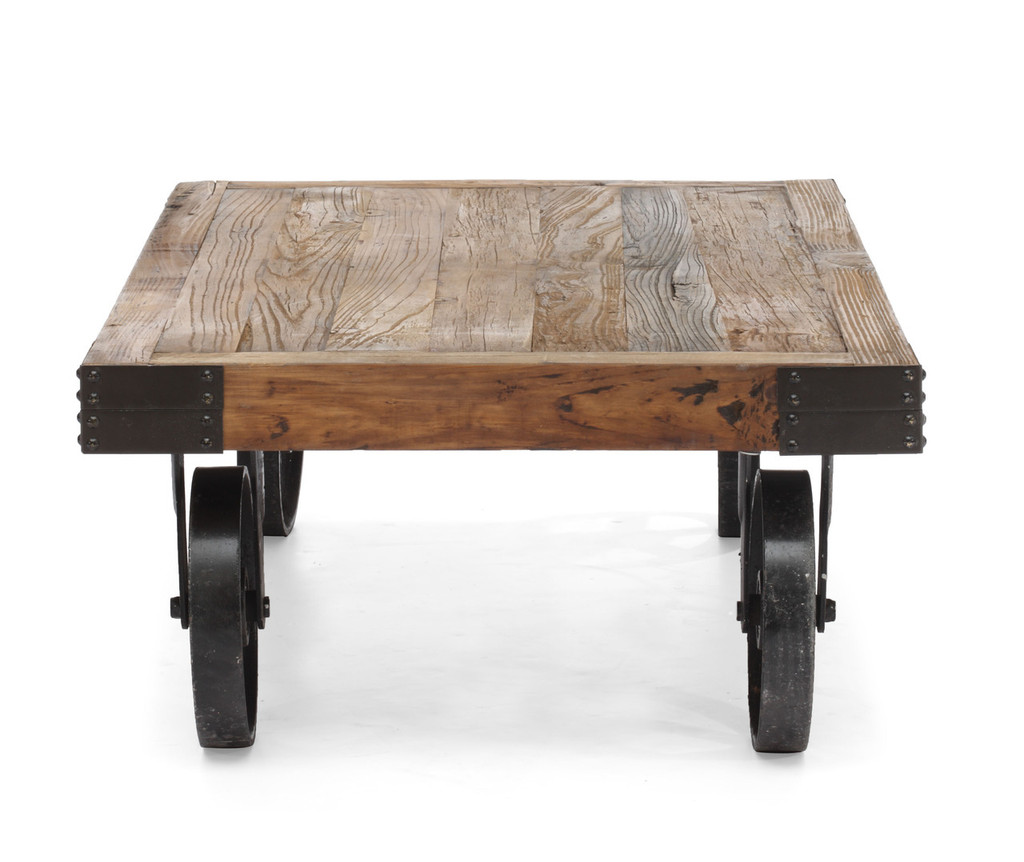 98130 Barbary Coast Cart Table Distressed Natural 816226022340 Tables Modern Distressed Natural Cart Table by  Zuo Modern Kassa Mall Houston, Texas Best Design Furniture Store Serving Houston, The Woodlands, Katy, Sugar Land, Humble, Spring Branch and Conroe