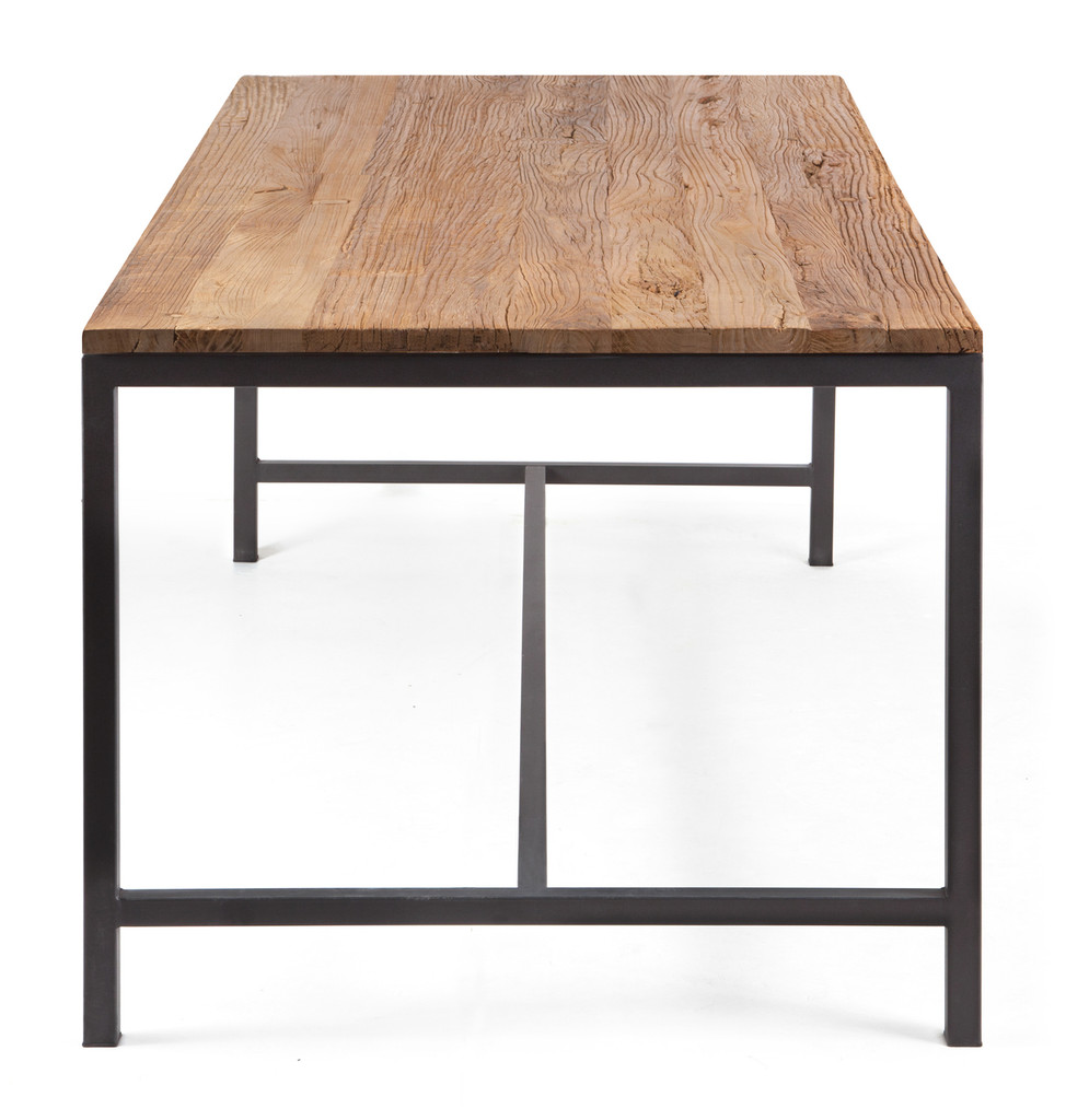 98318 Mansell Dining Table Distressed Natural 816226027369 Tables Modern Distressed Natural Dining Table by  Zuo Modern Kassa Mall Houston, Texas Best Design Furniture Store Serving Houston, The Woodlands, Katy, Sugar Land, Humble, Spring Branch and Conroe