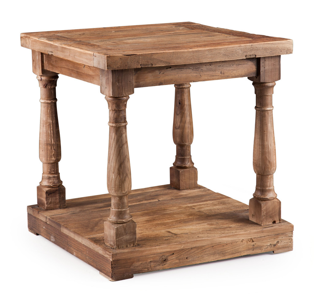 98327 Fairfax Side Table Distressed Oak 816226027451 Tables Modern Distressed Oak Side Table by  Zuo Modern Kassa Mall Houston, Texas Best Design Furniture Store Serving Houston, The Woodlands, Katy, Sugar Land, Humble, Spring Branch and Conroe
