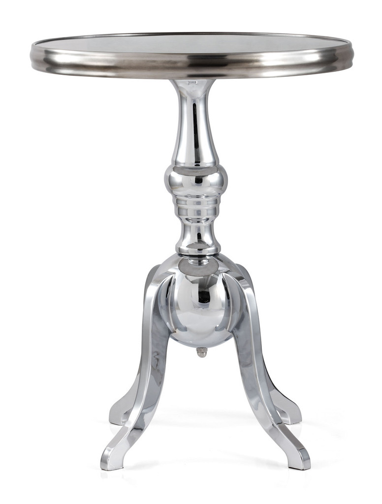 401180 Lahaina Side Table Stainless Steel 816226020896 Tables Modern Stainless Steel Side Table by  Zuo Modern Kassa Mall Houston, Texas Best Design Furniture Store Serving Houston, The Woodlands, Katy, Sugar Land, Humble, Spring Branch and Conroe