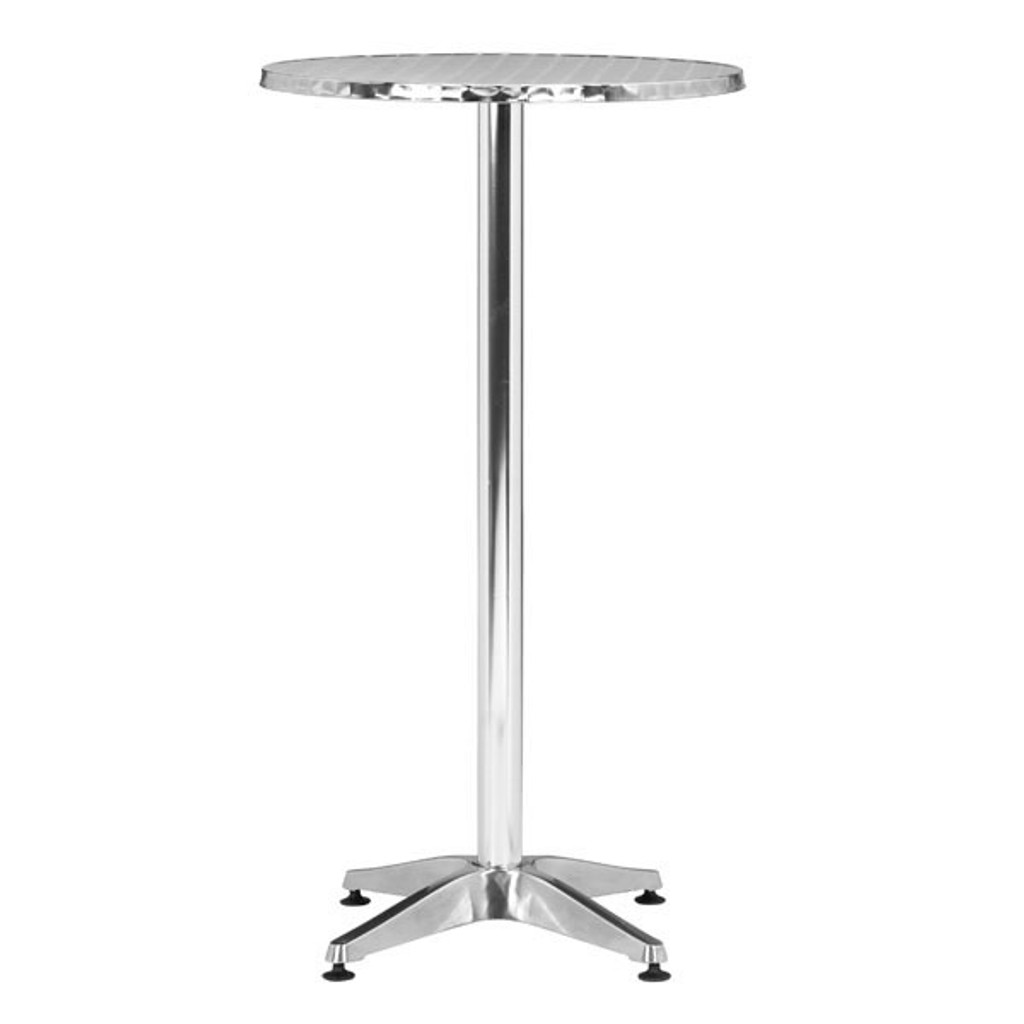 700611 Christabel Bar Table Aluminum 811938012658 Brush Aluminum Modern Aluminum Bar Table by  Zuo Modern Kassa Mall Houston, Texas Best Design Furniture Store Serving Houston, The Woodlands, Katy, Sugar Land, Humble, Spring Branch and Conroe