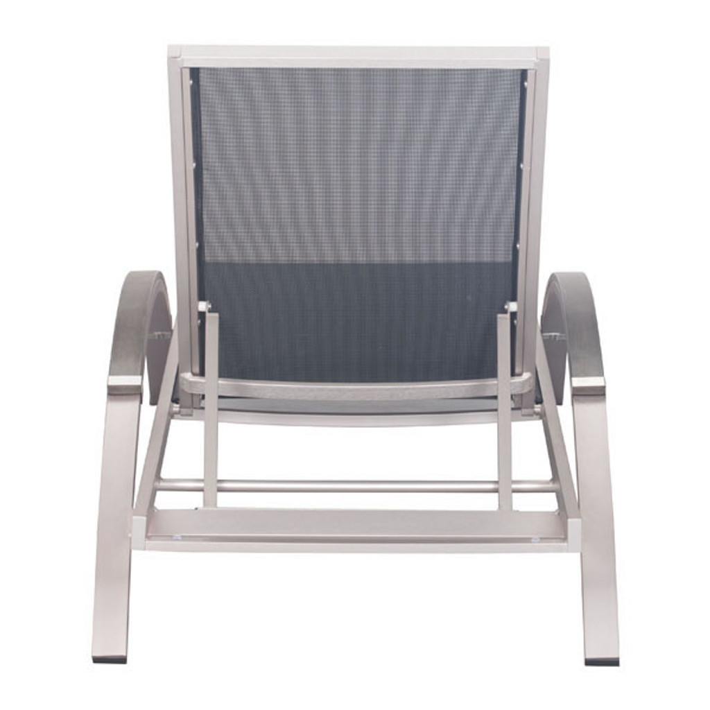 Metropolitan Chaise Lounge Brushed Aluminum