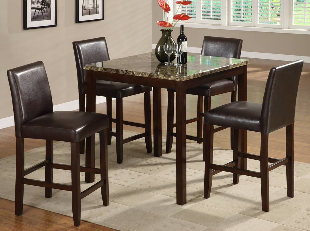 Anise Counter Height Table Top with 4 Side Chairs