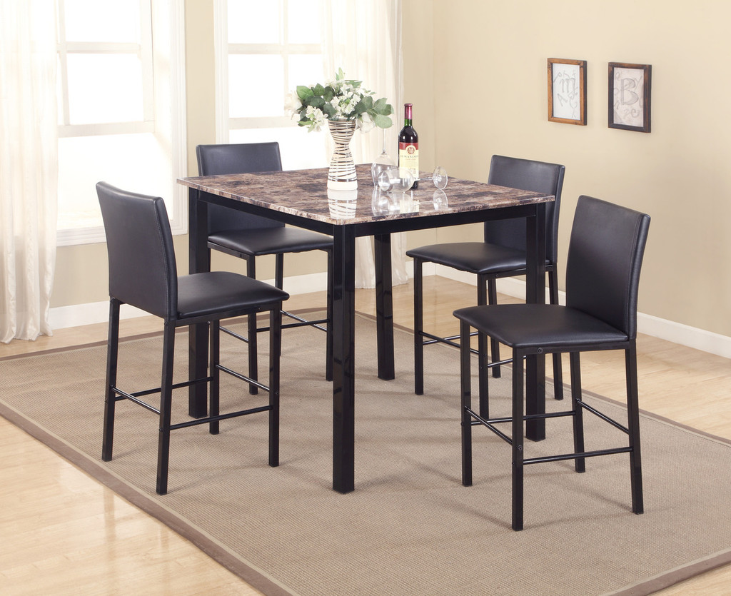 5PC AIDEN COUNTER HEIGHT DINING TABLE SET