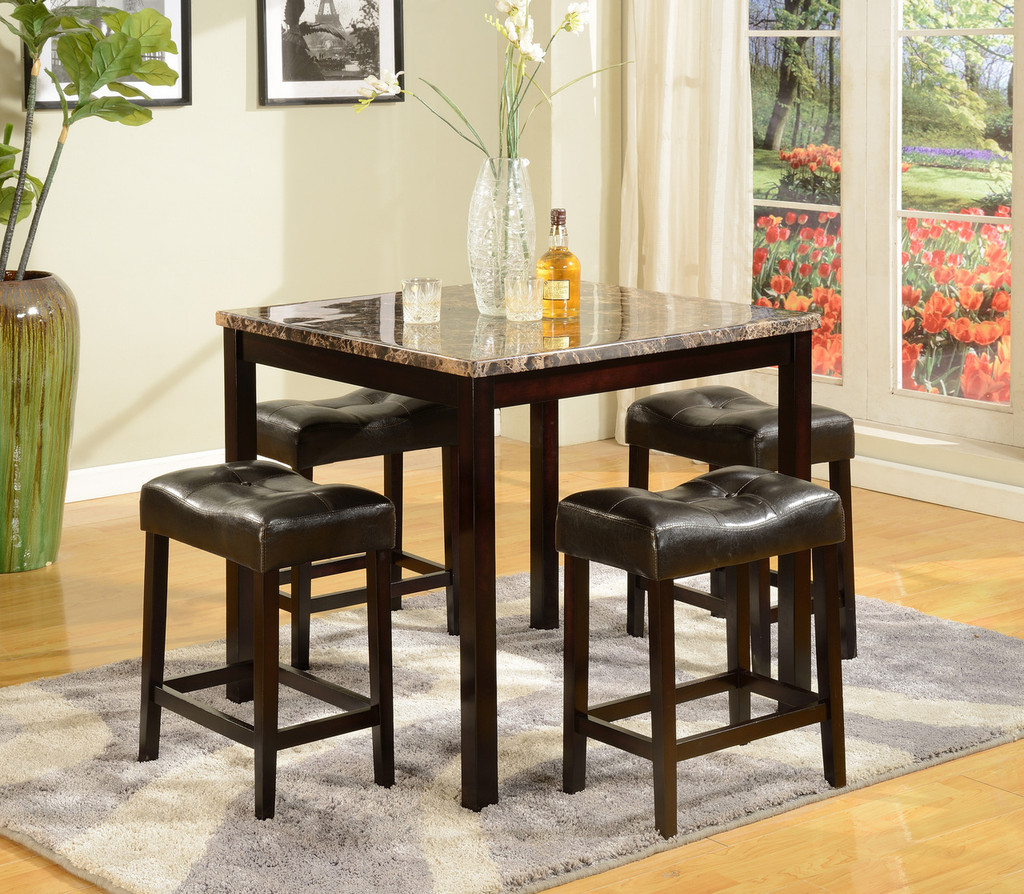 5PC KINSEY COUNTER HEIGHT DINING TABLE SET