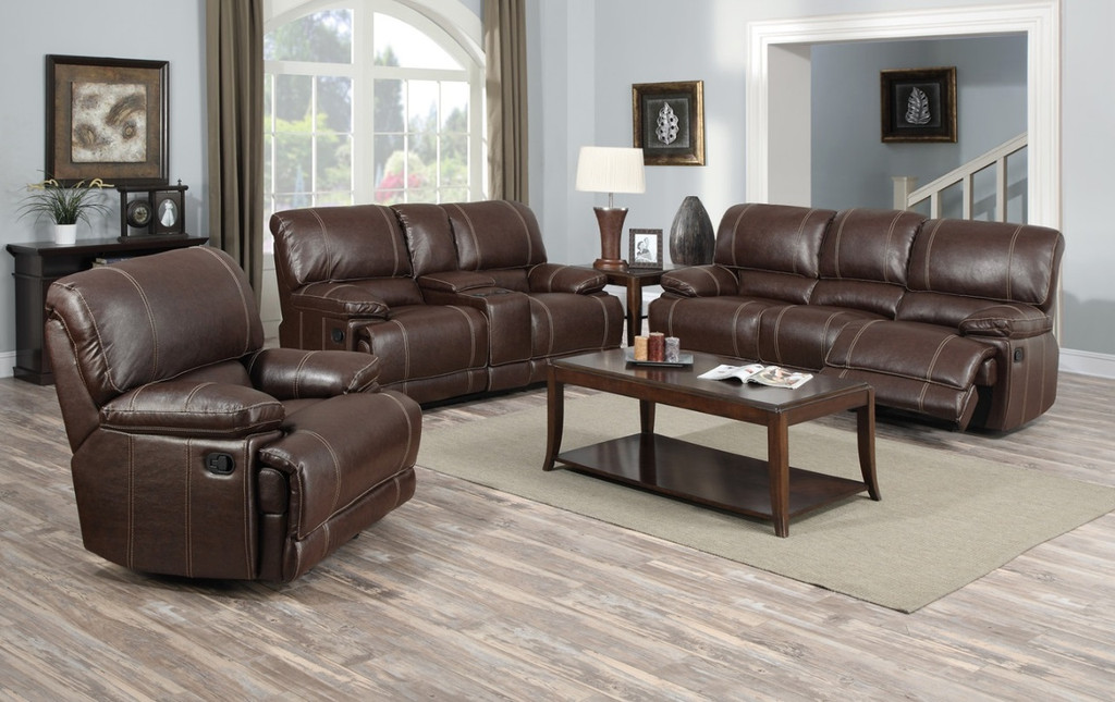 3PCs Full Extension Recliner Set