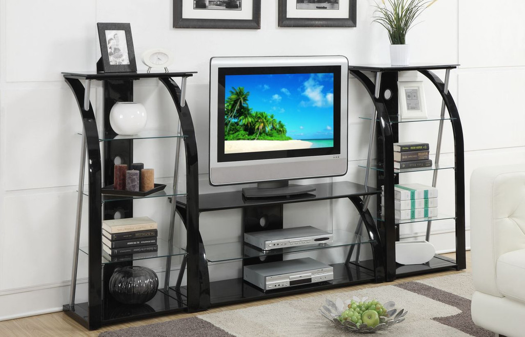 TV STAND: 8MM TEMPERED GLASS / SHELF: 5MM TEMPERED GLASS