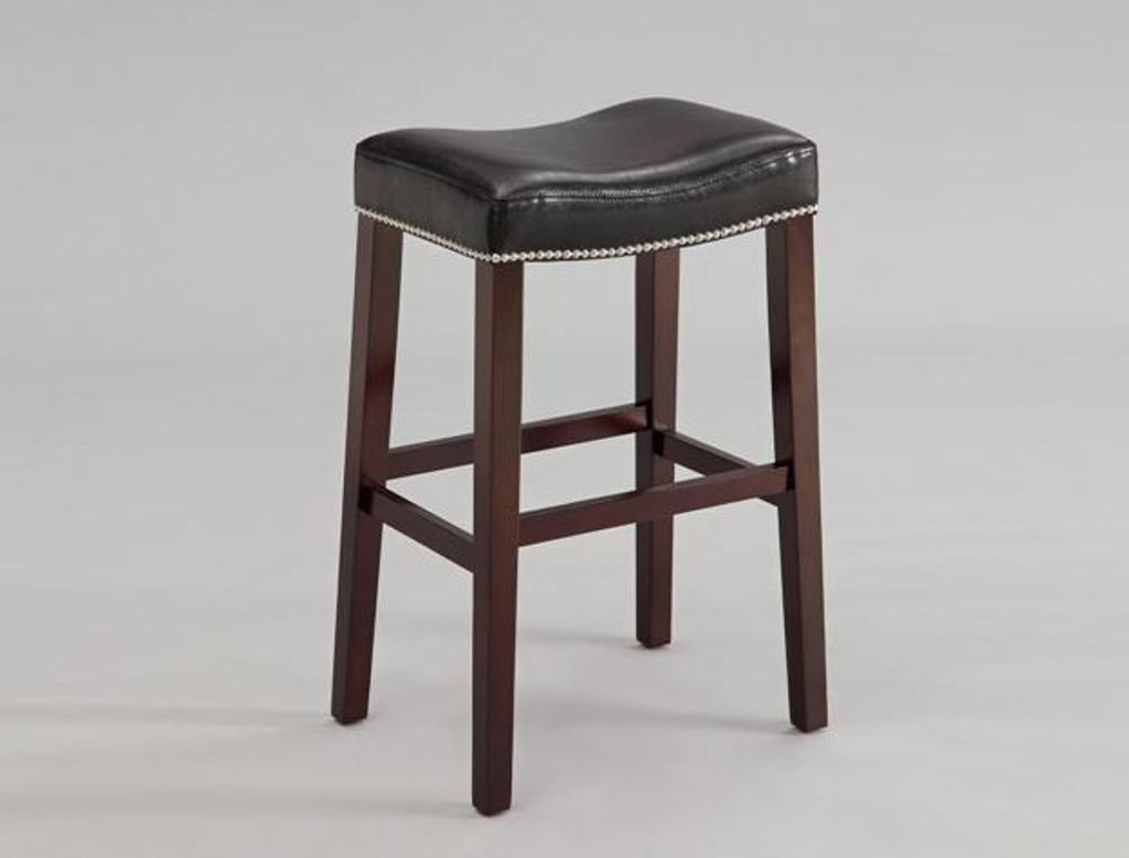 NADIA SADDLE PUB OR BAR STOOL BLACK (SET OF 2) - 2991C-29-BK