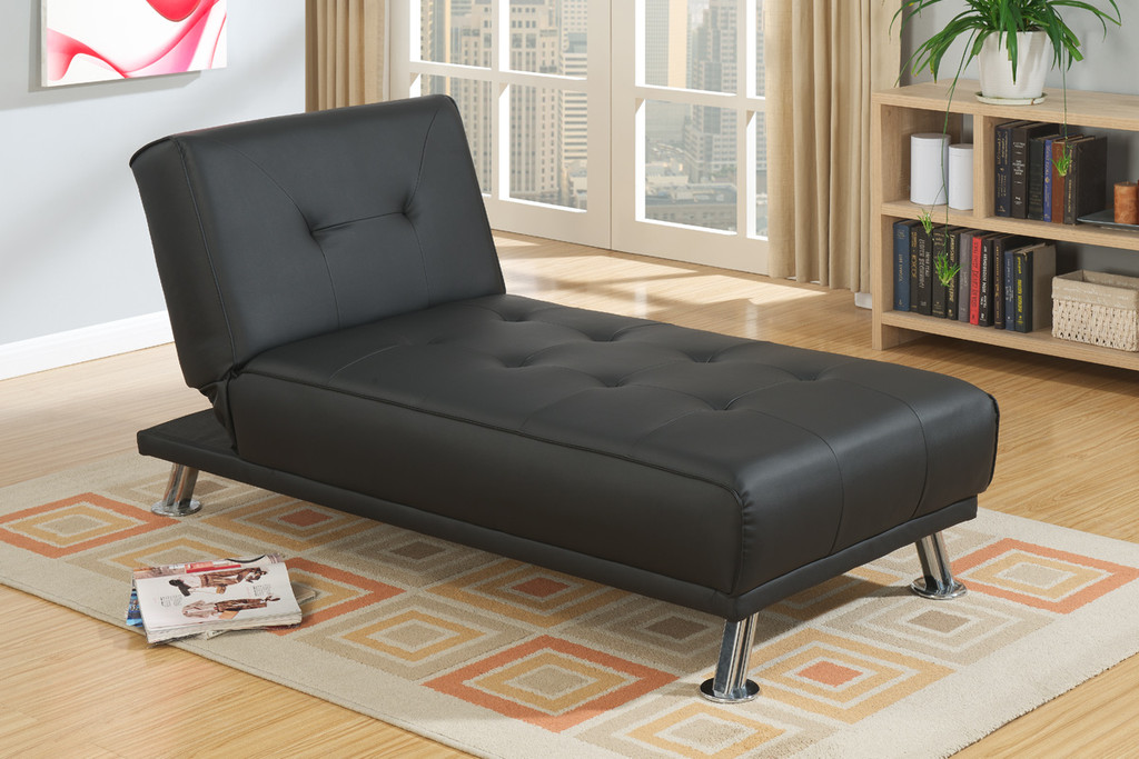 PRESTON ADJUSTABLE SECTIONAL IN BLACK FAUX LEATHER