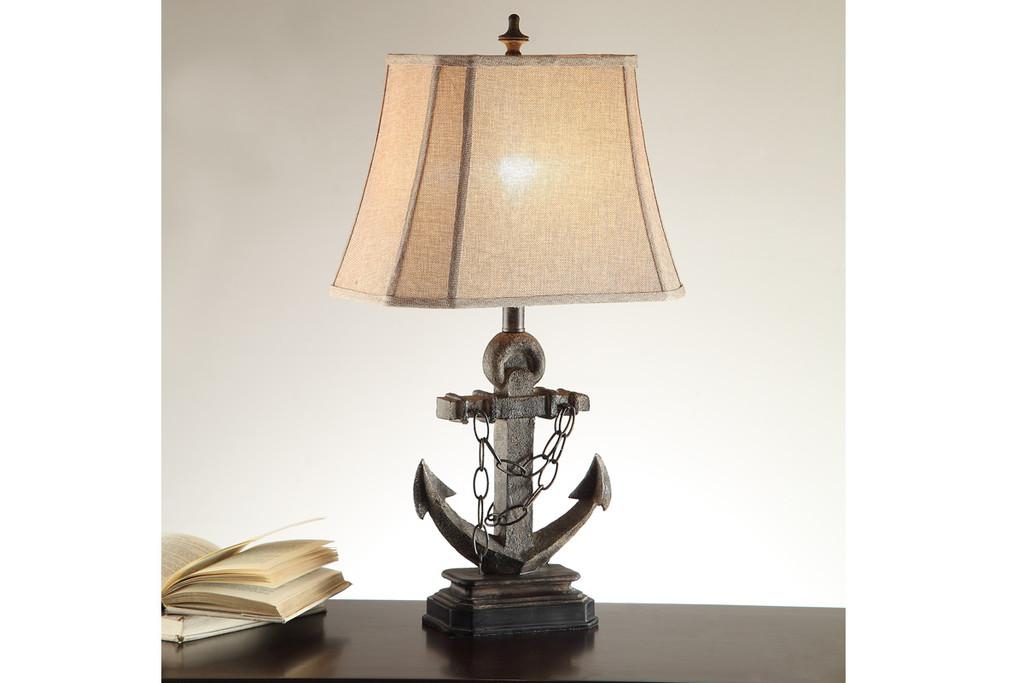 "LIFE-LIKE ANCHOR BASE LAMP 28"" H (2 LAMPS)"