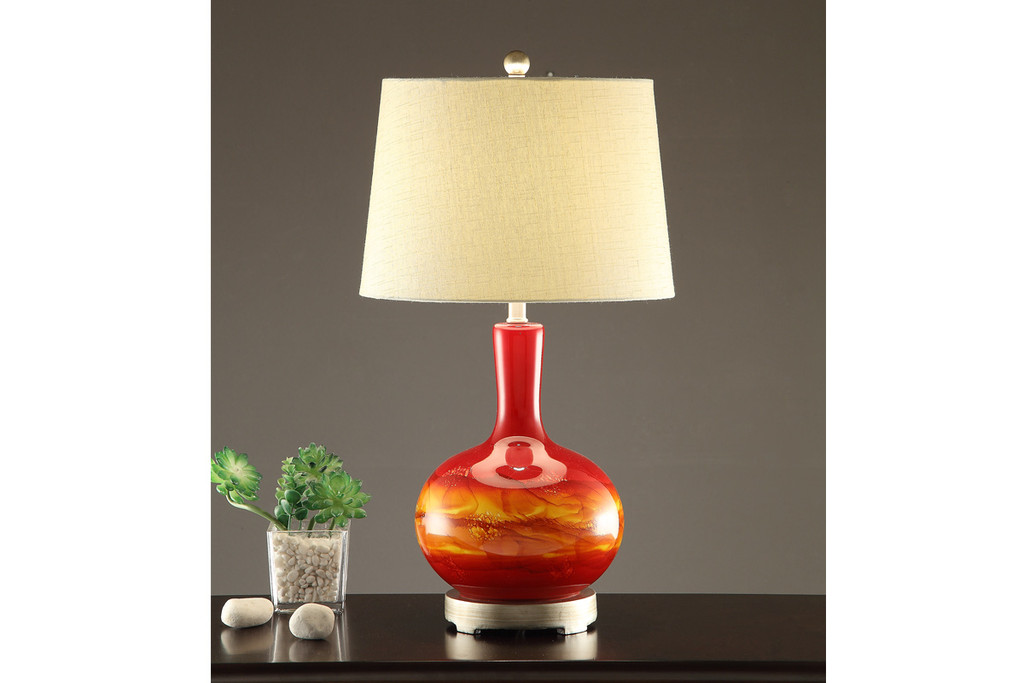"EARTHLY VIBRANT TABLE LAMP 28""H (2 LAMPS)"