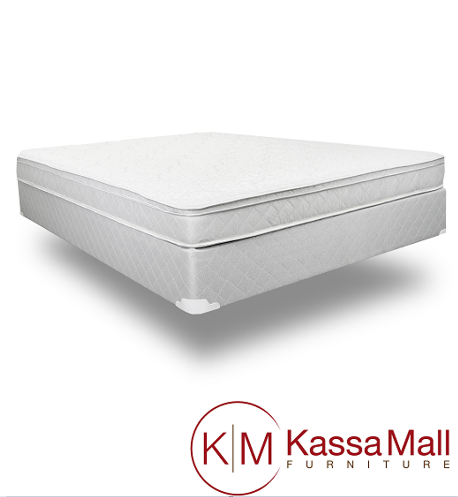 LP SLEIGH BED WITH MATTRESS AND BOXSPRING IN WHITE