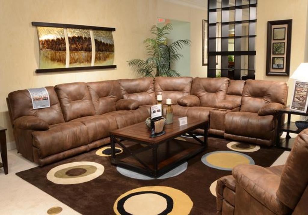 438 3pc catnapper voyager sectional sofa elk collection by happy home rh kassamall com catnapper sectional sofas with recliners