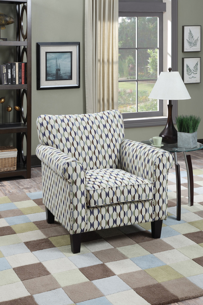 ACCENT CHAIR IN PRINT CIRCLE COLOR
