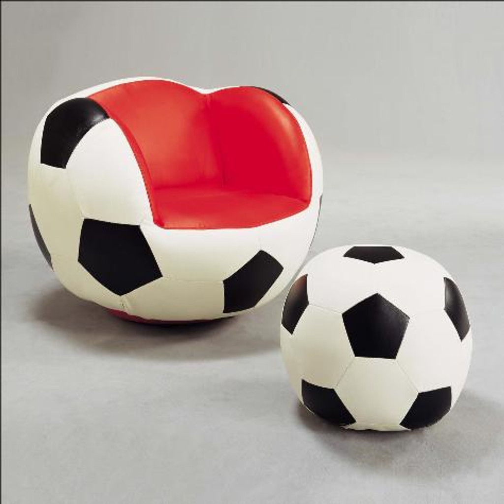 SOCCER CHAIR AND OTTOMAN - 7004