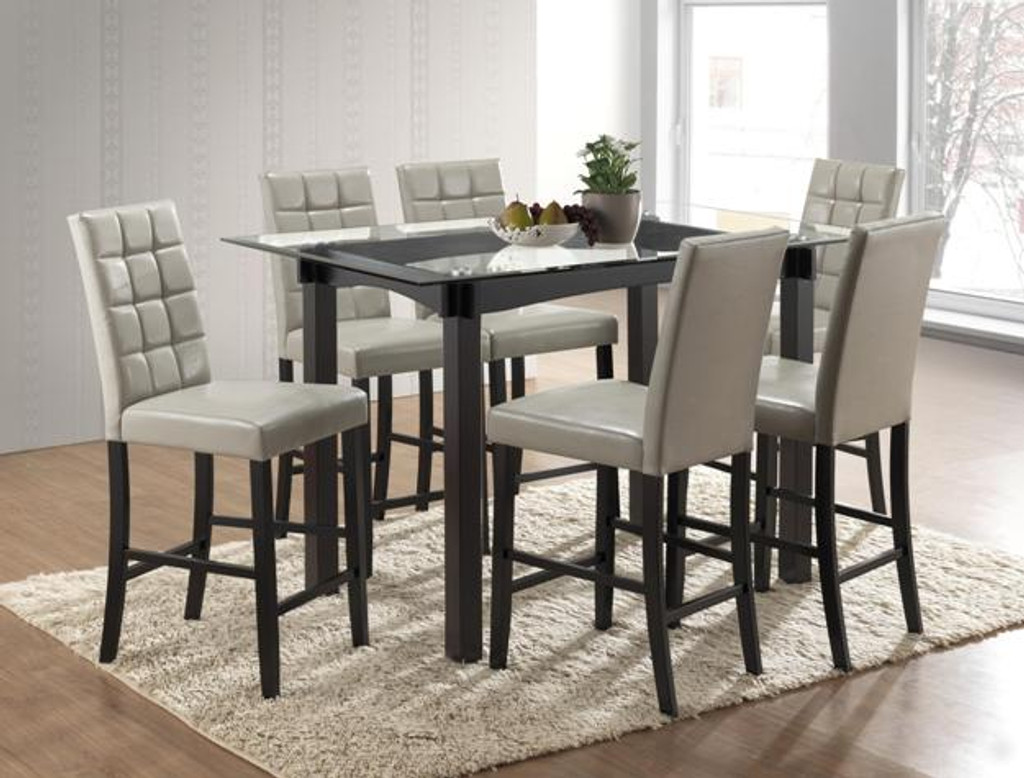 ZORA COUNTER HEIGHT DINING TABLE TOP 5 PIECE SET