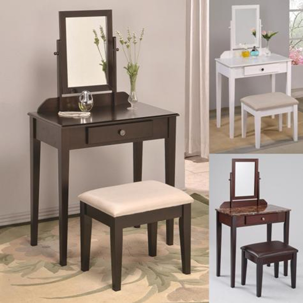 IRIS VANITY TABLE & STOOL SET
