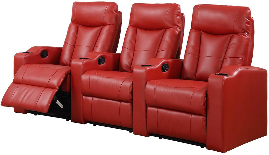 3PC MADISON SQUARE Home Theatre (RED) - MADISON SQUARE-RED