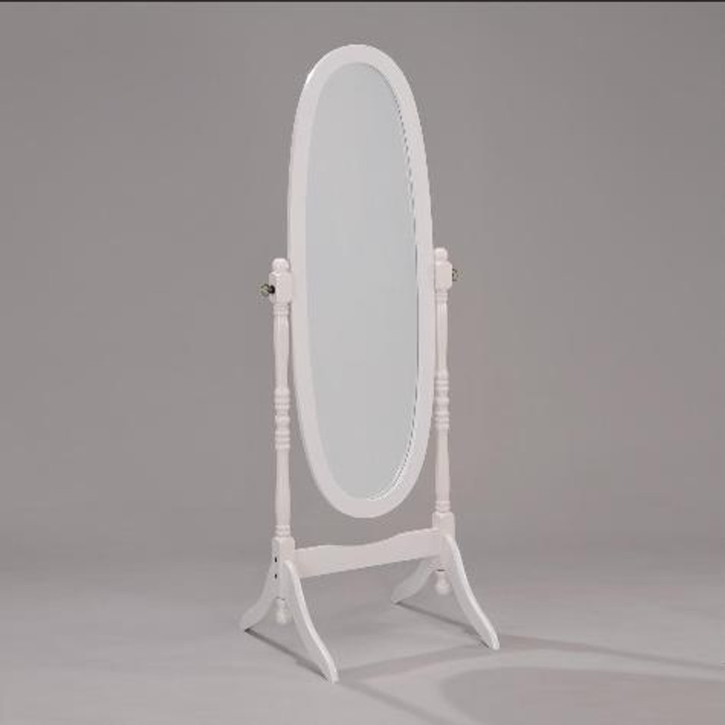 WHITE FINISH CHEVAL MIRROR - 2069