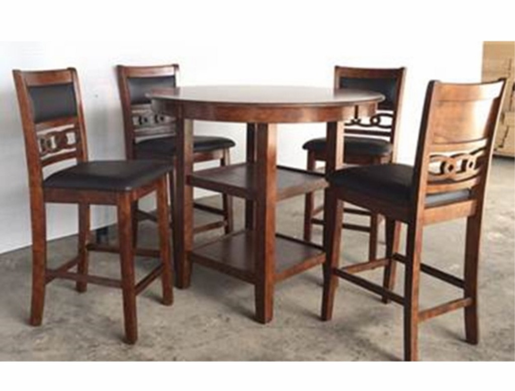Cally Round Counter Height Table Top 5 PC Set - 2716