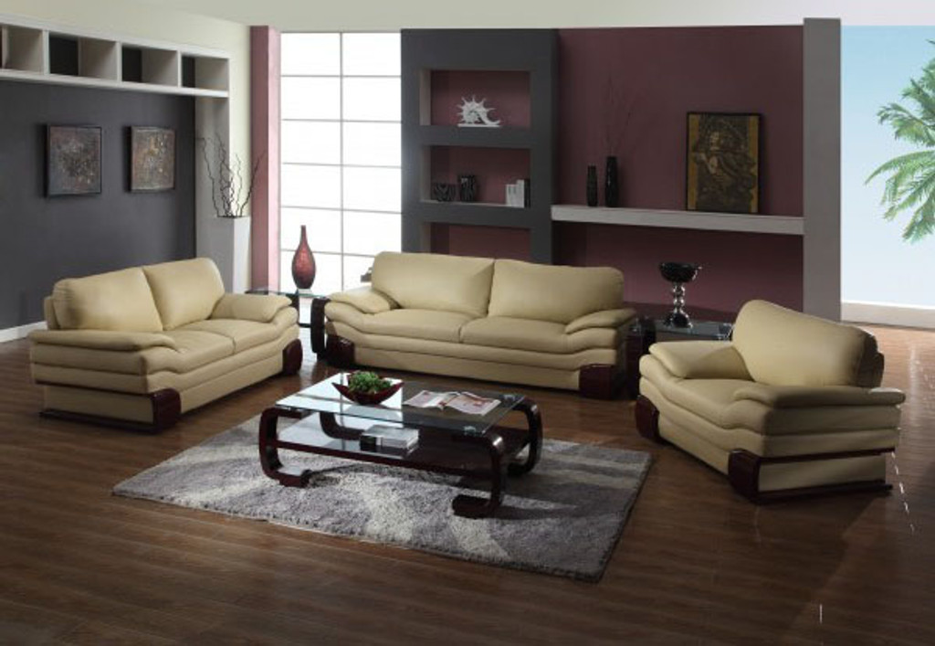 KASSA MALL HOME FURNITURE - U728 CAPPUCCINO - STYLISH BEIGE Leather ...