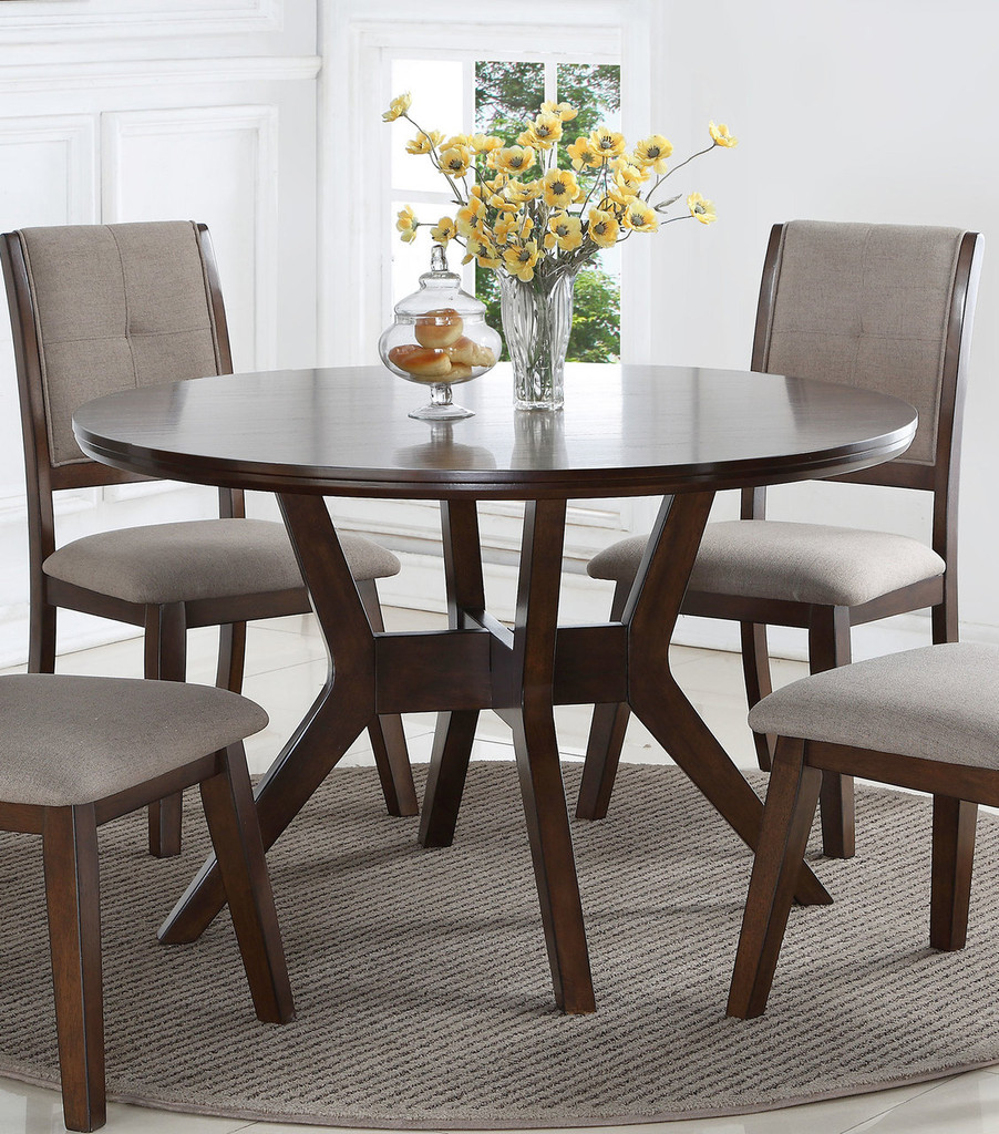 BARNEY ROUND DINING TABLE-2322T/48