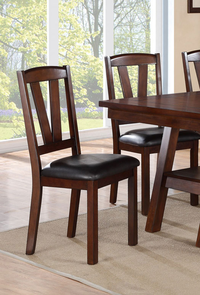 Awe Inspiring Dark Walnut Finish Dining Chair 2 Pcs Set Onthecornerstone Fun Painted Chair Ideas Images Onthecornerstoneorg