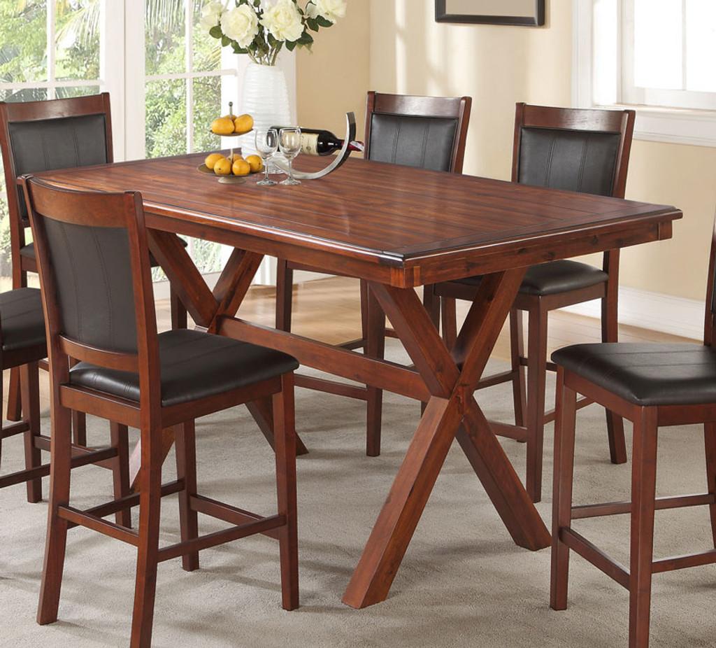 ACACIA RECTANGULAR COUNTER HEIGHT TABLE-F2263