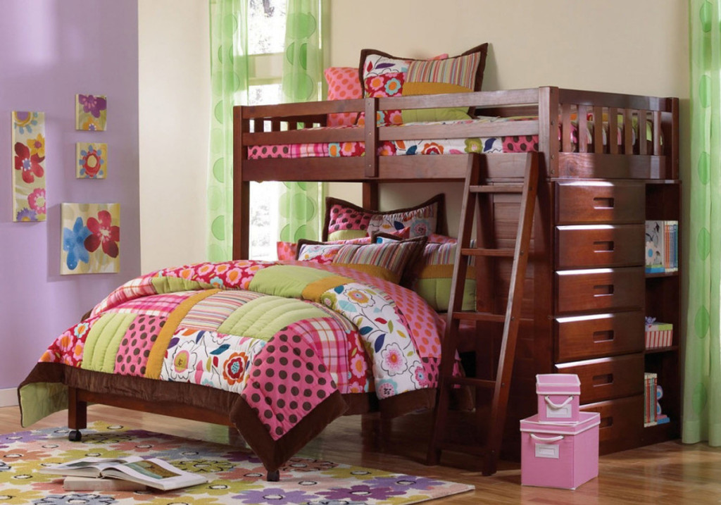 TWIN OVER FULL LOFT BED-2805