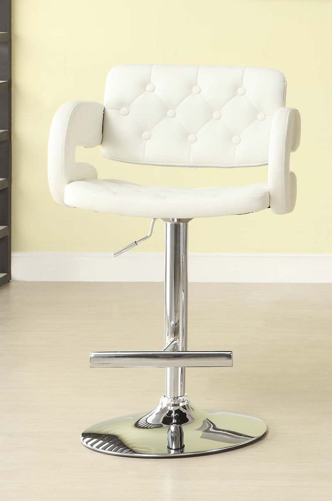 RIDE WHITE AIRLIFT SWIVEL STOOL 2 PCS SET-1178WHT